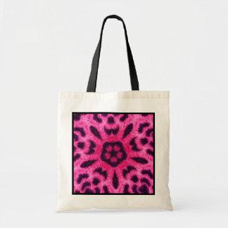 Fancy Pink Leopard Flower Kaleidoscope Budget Tote Budget Tote Bag