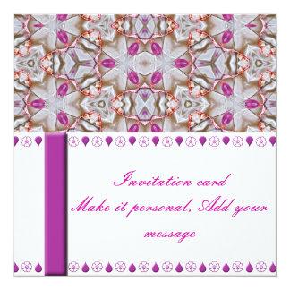 Fancy Pink Patterned Invitation Card
