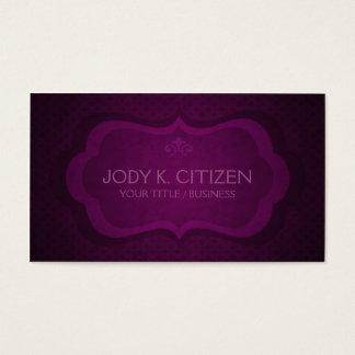 Fancy Purple Business Card