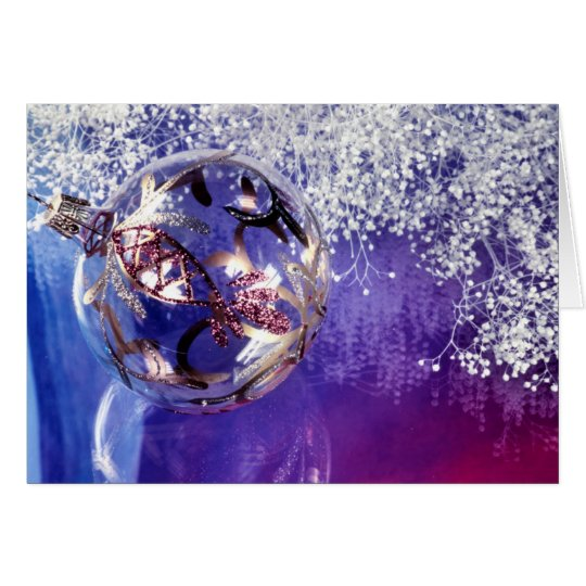 Fancy Purple Christmas Decoration Card