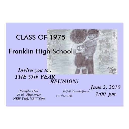 Fancy purple Class Reunion Card Business Card