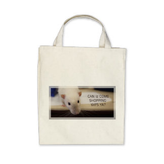 Fancy Rat Large Canvas Shopping Bag