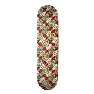 Fancy Red and Green Plaid Skateboard