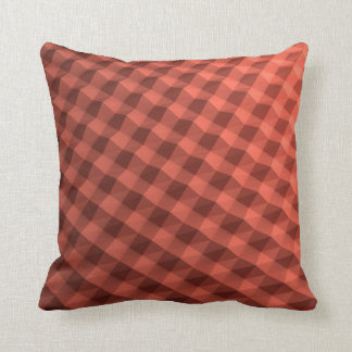 Fancy red patterned pillow