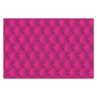 Fancy Regal Princess Pink Diamond Tuft Print Tissue Paper