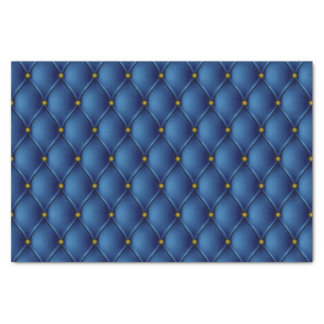 Fancy Regal Royal Blue Diamond Tuft Print Tissue Paper