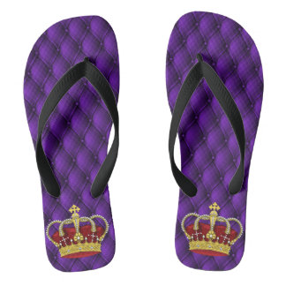 Fancy Regal Royal Purple & Crown Thongs