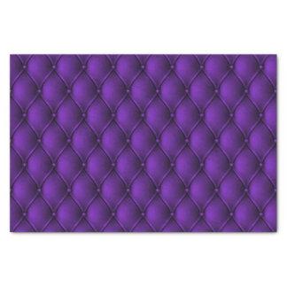 Fancy Regal Royal Purple Diamond Tuft Print Tissue Paper