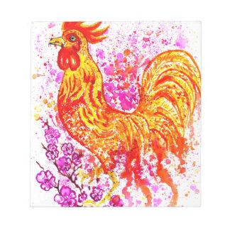 Fancy Rooster Art 3 Notepad