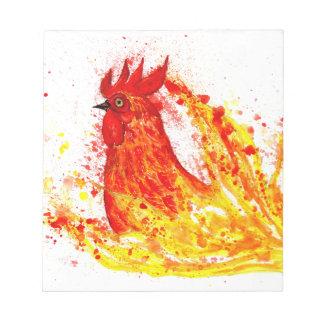 Fancy Rooster Art 4 Notepad