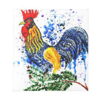 Fancy Rooster Art 5 Notepad