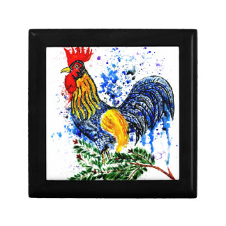 Fancy Rooster Art 5 Small Square Gift Box