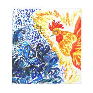 Fancy Rooster Art Notepads