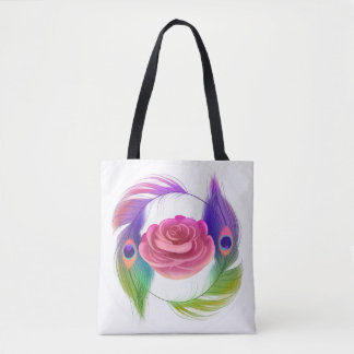 Fancy Rose & Feathers Tote