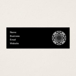 Fancy Round Design on Black. Mini Business Card