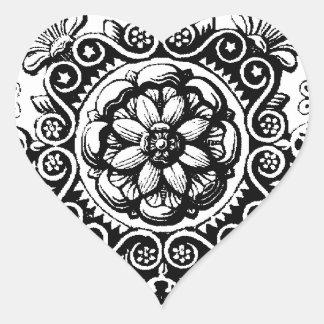 fancy scrolled heart sticker