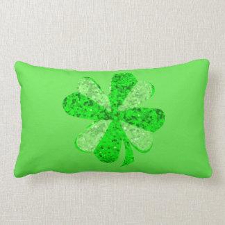 """Fancy Shamrock Lumbar Pillow 13"""" x 21"""""""