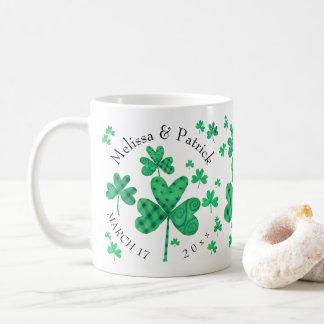 Fancy Shamrocks Add Names Coffee Mug