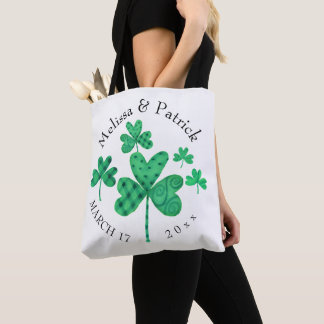 Fancy Shamrocks Add Names Tote Bag