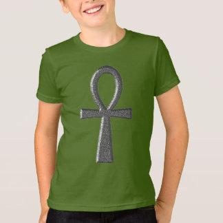 Fancy Silver Ankh Kids' T-Shirt