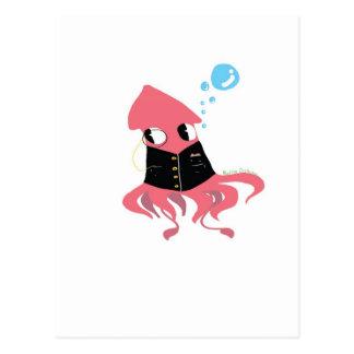 Fancy squid postcard