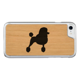 Fancy Standard Poodle Silhouette Carved iPhone 8/7 Case