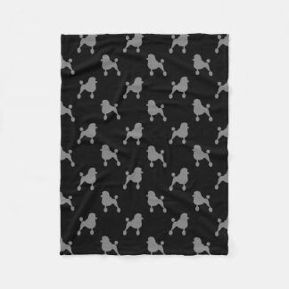 Fancy Standard Poodle Silhouettes Pattern Fleece Blanket