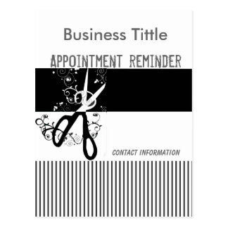 Fancy Striped Salons Spa Appointment Reminder Postcard