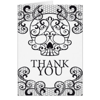 Fancy Sugar Skull Calavera Thank you Card