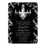Fancy Swirl Chandelier Wedding Invitation