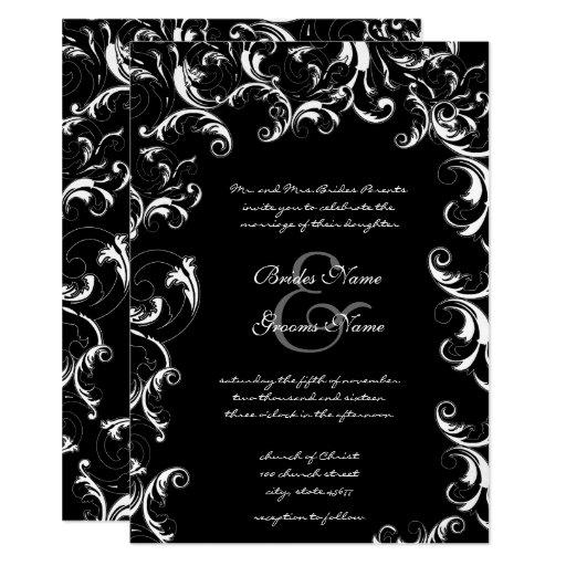 Fancy Swirl Wedding Invitation
