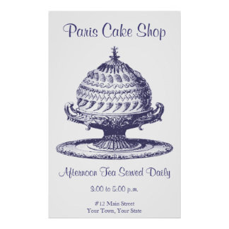 Fancy Tea Room Sign, Kitchen Decor Poster