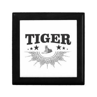 fancy tiger logo gift box