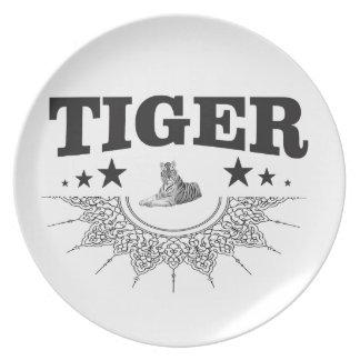 fancy tiger logo plate