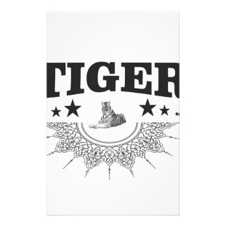 fancy tiger logo stationery