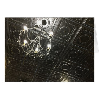 Fancy Tin Ceiling Blank Note Card
