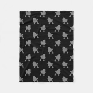 Fancy Toy Poodle Silhouettes Pattern Fleece Blanket