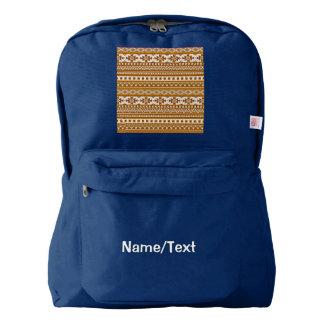 fancy tribal border pattern 08 golden (I) Backpack