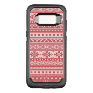 fancy tribal border pattern 08 red (I) OtterBox Commuter Samsung Galaxy S8 Case