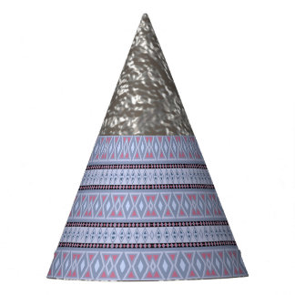 Fancy tribal border pattern party hat