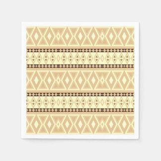 fancy tribal pattern beige (I) Disposable Napkin