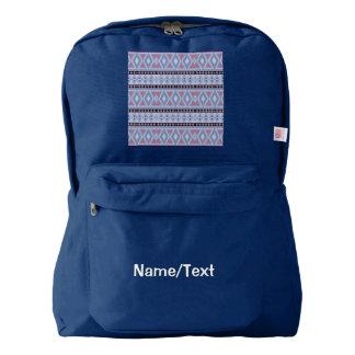 fancy tribal pattern  blue (I) Backpack