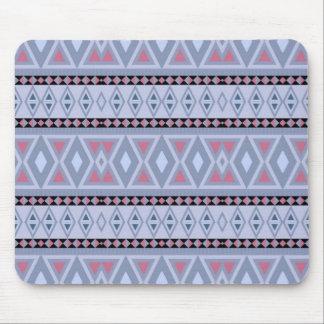 fancy tribal pattern  blue (I) Mouse Pad