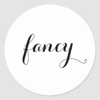 Fancy Typography Classic Round Sticker