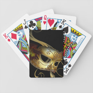 Fancy Venetian Masquerade black | gold Bicycle Playing Cards