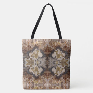 Fancy Vibrant Crazy Lace Agate Natural Rock Design Tote Bag