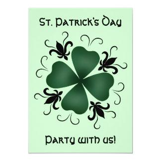 Fancy victorian shamrock St Patricks Day Card