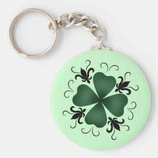 Fancy victorian shamrock St Patricks Day Keychain