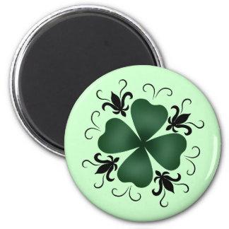 Fancy victorian shamrock St Patricks Day Magnet