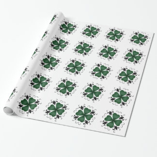 Fancy Victorian shamrock Wrapping Paper